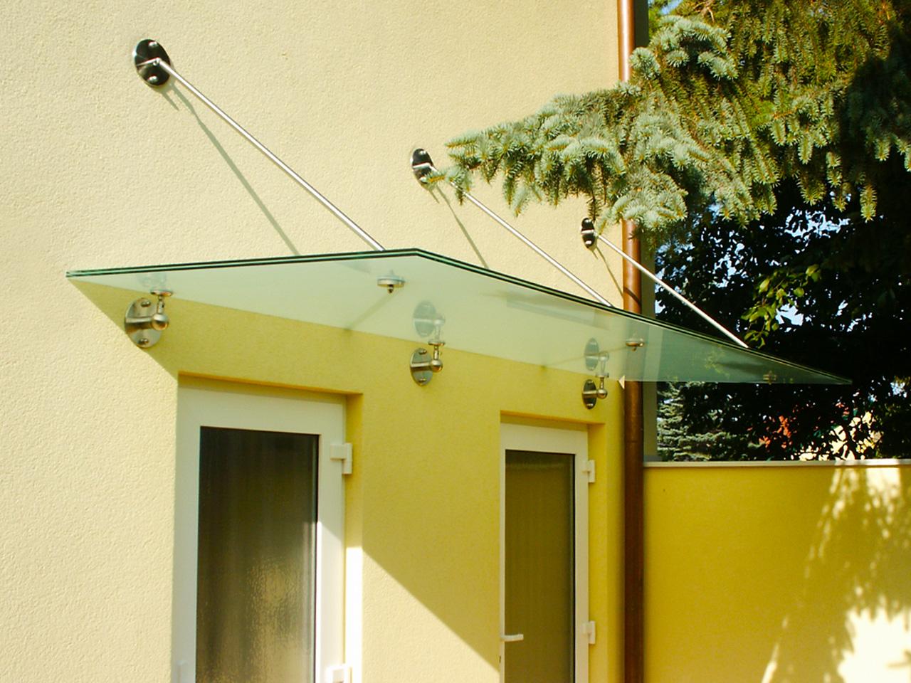 Glas-Eingangsdach