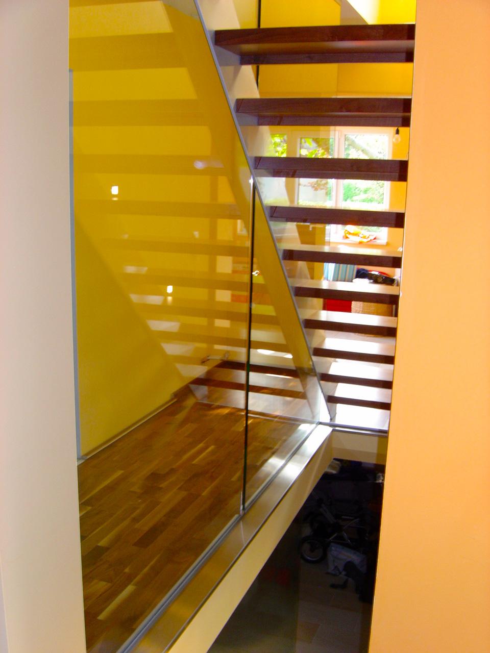 Verglasung im Treppenbereich